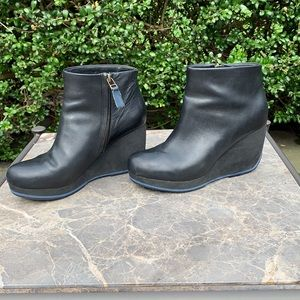 Camper x Romain Kremer Black Leather Wedge Boot 7